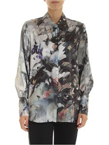 L'Autre Chose - Shirt with brush strokes in shades of grey