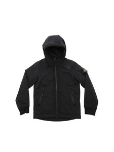 Stone Island Junior - Black padded Primaloft jacket