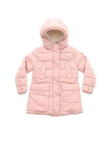 Save the duck - Pink long down jacket with hood