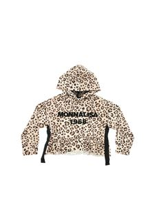 Monnalisa - Animal print crop sweatshirt