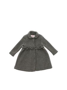 Il Gufo - Grey cloth coat with fringes
