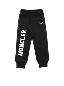 Moncler Jr - Black fleece trousers