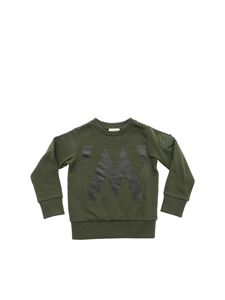 Moncler Jr - Green sweatshirt with logo print
