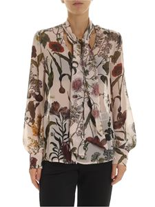 Ermanno by Ermanno Scervino - Pink shirt with multicolor floral pattern