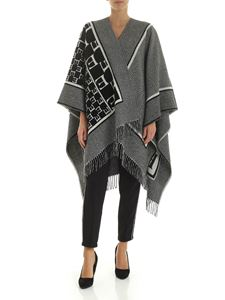 Ermanno by Ermanno Scervino - Black and white cape with fringes