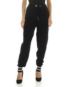 Ermanno by Ermanno Scervino - Black and white trousers with drawstring