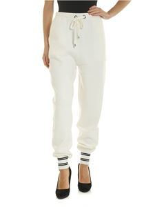 Ermanno by Ermanno Scervino - White trousers with drawstring