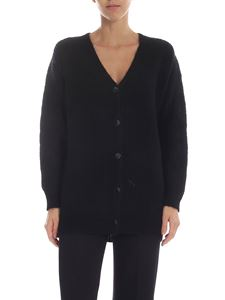 Ermanno by Ermanno Scervino - Black cardigan with lace on the sleeves