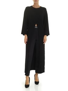 Ermanno by Ermanno Scervino - Black dress with maxi vent