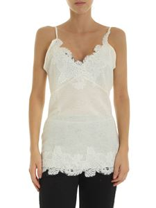 Ermanno by Ermanno Scervino - Top in ivory color with lace details