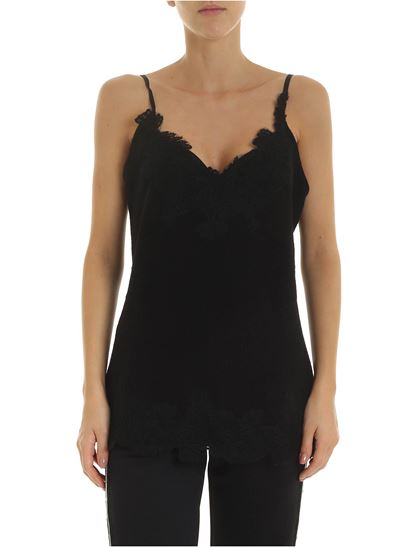 Ermanno by Ermanno Scervino - Black top with lace details