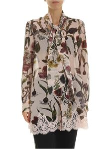 Ermanno by Ermanno Scervino - Pink long shirt with multicolor floral pattern