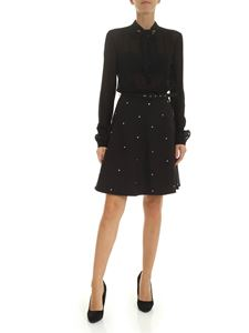 Ermanno by Ermanno Scervino - Black dress with semi-transparent shirt