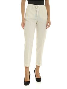 Ermanno by Ermanno Scervino - Ivory-colored trousers with side slash pockets
