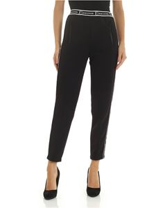 Ermanno by Ermanno Scervino - Black trousers with elastic branded at the waist