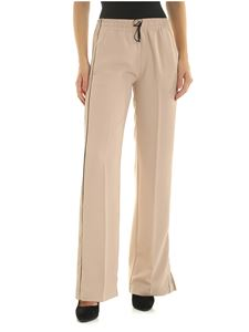 Ermanno by Ermanno Scervino - Wide pink trousers with black details