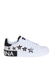 Dolce & Gabbana - Stars printed sneakers in white