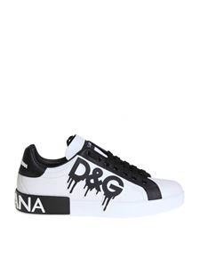 Dolce & Gabbana - Sneakers bianche stampa D&G