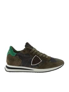 Philippe Model - Sneakers Trpx verde camouflage