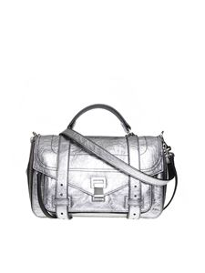 Proenza Schouler - Ps1 shoulder bag in silver textured leather