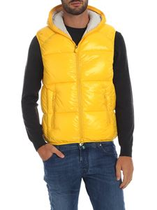 Save the duck - Sleeveless down jacket in yellow