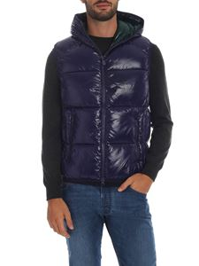 Save the duck - Sleeveless down jacket in purple