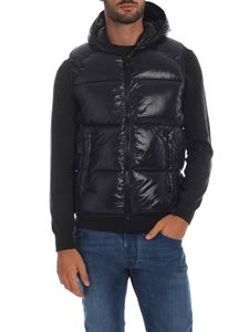 Save the duck - Sleeveless down jacket in black