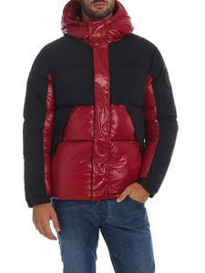 Save the duck - Down jacket in red with black details