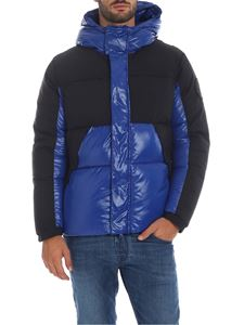 Save the duck - Down jacket in electric blue with black details