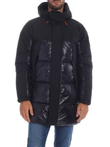 Save the duck - Down jacket in black with quilted details