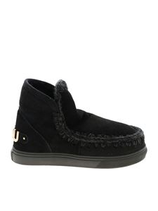 Mou - Eskimo sneakers in black with golden logo
