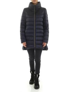 Save the duck - Down jacket with logo patch in blue