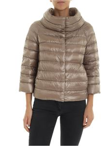 Herno - Sofia down jacket in mud-color