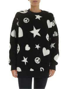 Love Moschino - Teddy effect sweatshirt in black
