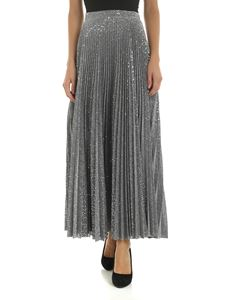 Dondup - Pleated skirt in silver