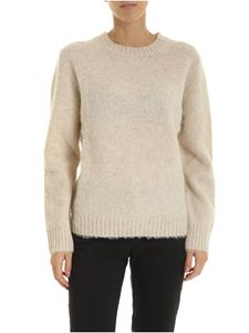 Aspesi - Wool pullover in melange ecrù color
