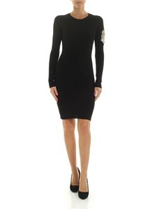Dondup - Black dress with jewel details