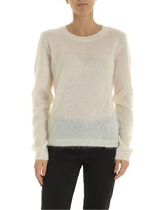Dondup - Mohair and merino wool pullover in cream color