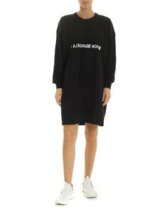 MM6 Maison Margiela - Black Oversize dress with white logo