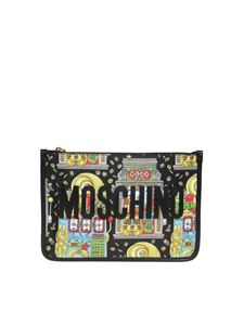 Moschino - Slot Machine clutch in black