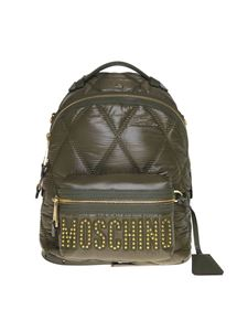 Moschino - Quilted backpack in Army green