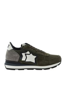 Atlantic Stars - Antares sneakers in green and grey color