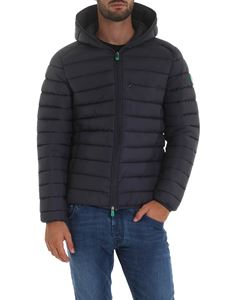 Save the duck - Down jacket with hood in anthracite grey color