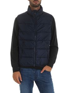 Save the duck - Sleeveless down jacket in blue color