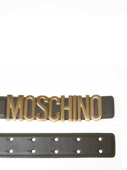 Moschino - MOSCHINO belt in green leather