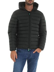Save the duck - Dark green down jacket with hood