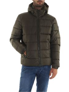 Save the duck - Quilted effect down jacket in Army green color