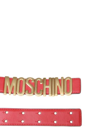 Moschino - MOSCHINO belt in red leather