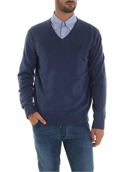 online store 4e762 a5fb7 Pullover in pale blue color with logo