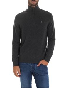 POLO Ralph Lauren - Grey cardigan with logo embroidery